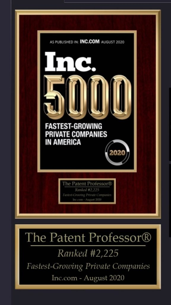 The Patent Professor® Fastest-Growing Private Company